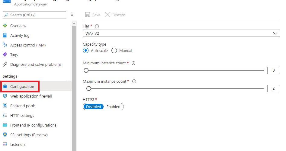Azure Application Gateway - Configuration
