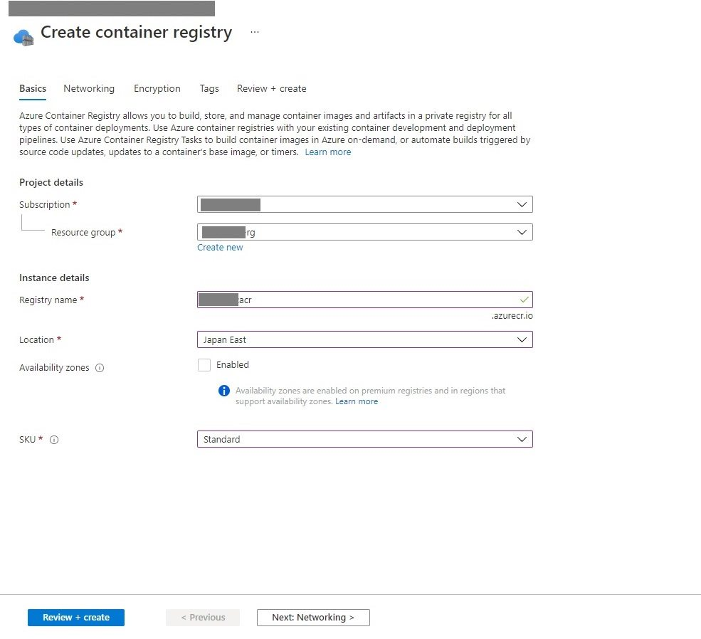 Creating Container Registry In Azure Portal Step 1