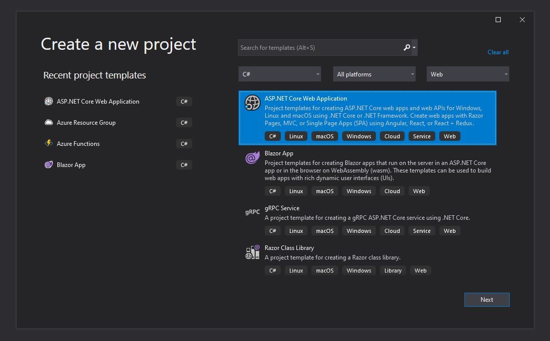 Creating Web App project in Visual studio Step 1