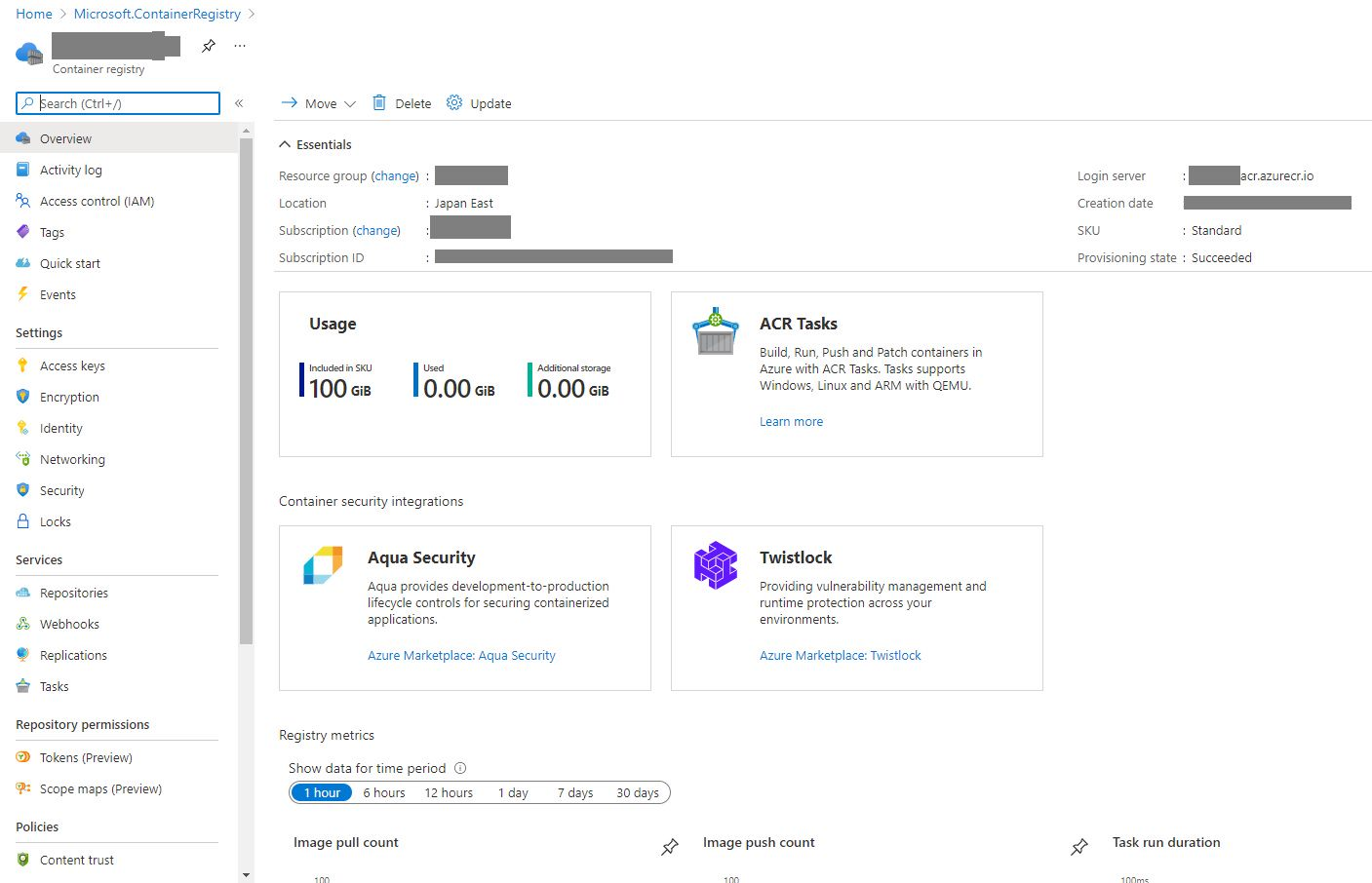 Creating Container Registry In Azure Portal Step 6
