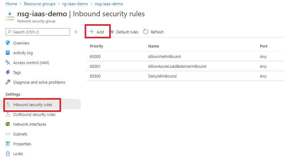 Creating NSG using Azure portal Step 4