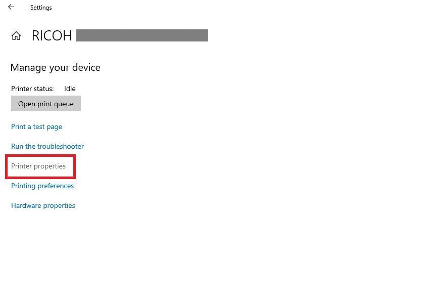Adding Printer to Azure VM by IP Address Step 2