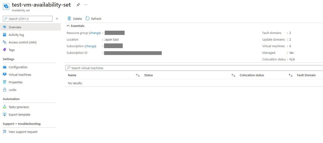 Azure Virtual Machine - Creating Availability Set Step 6