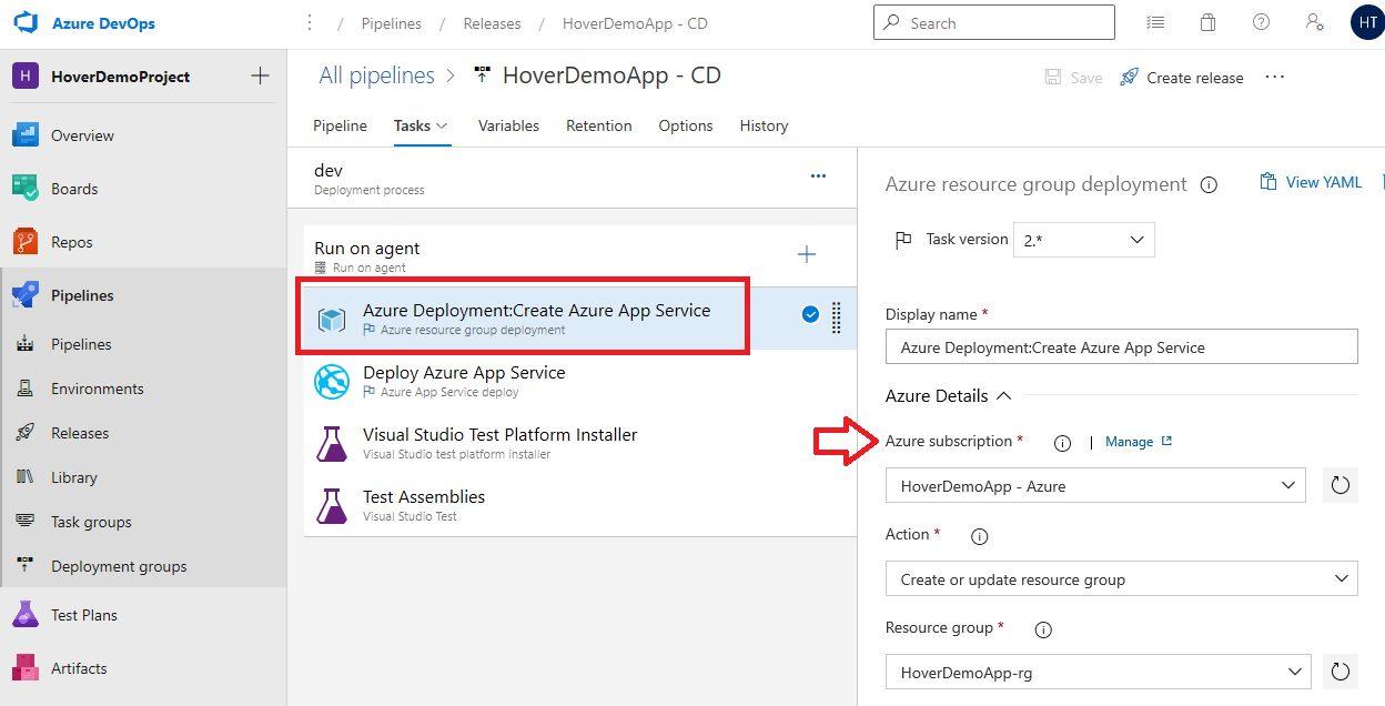 Azure DevOps Starter - Exploring CD pipeline Step 9