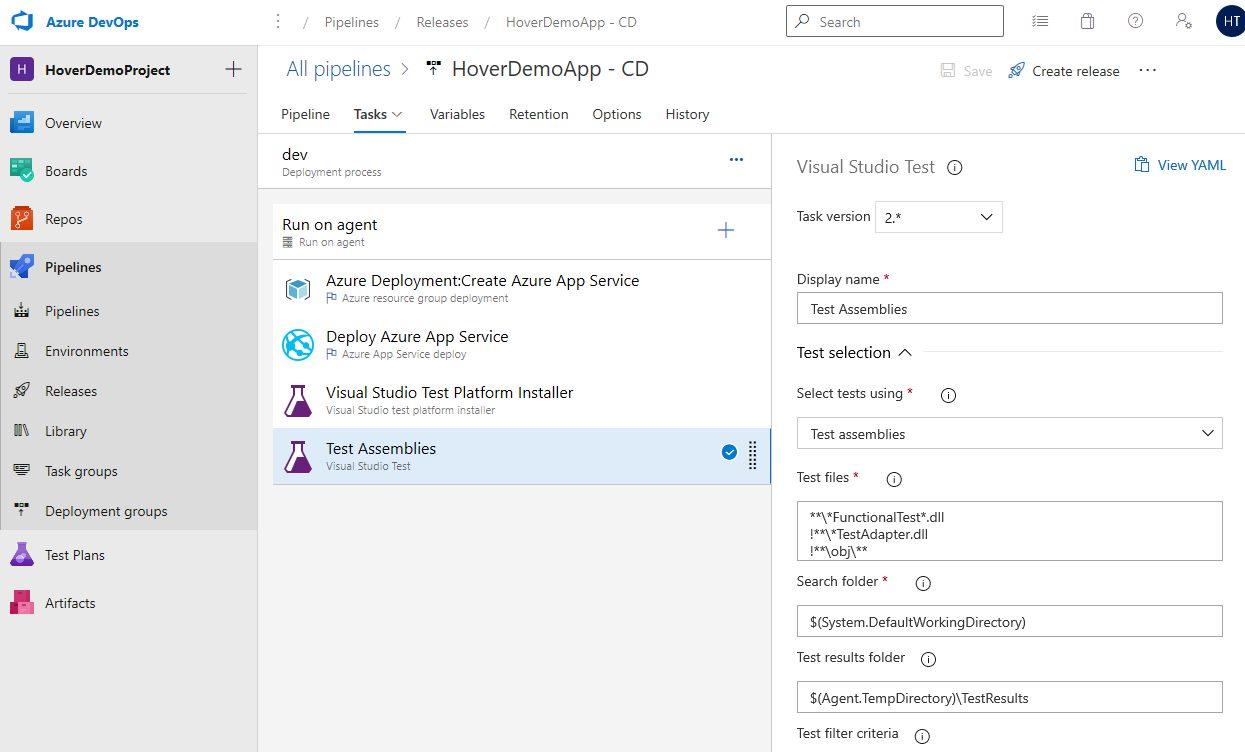 Azure DevOps Starter - Exploring CD pipeline Step 17