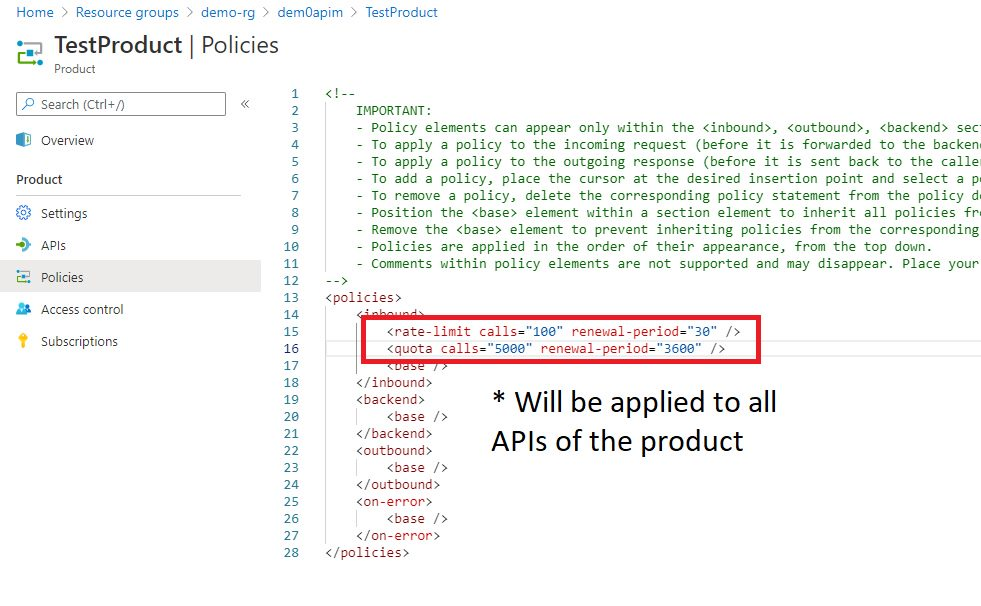 Adding Policy to Product Step 2