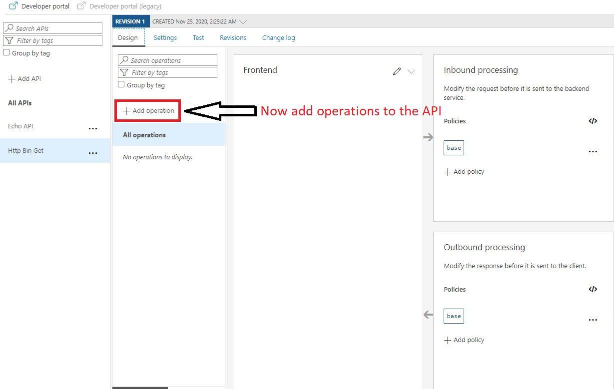 Create APIM API in Azure portal Step 4