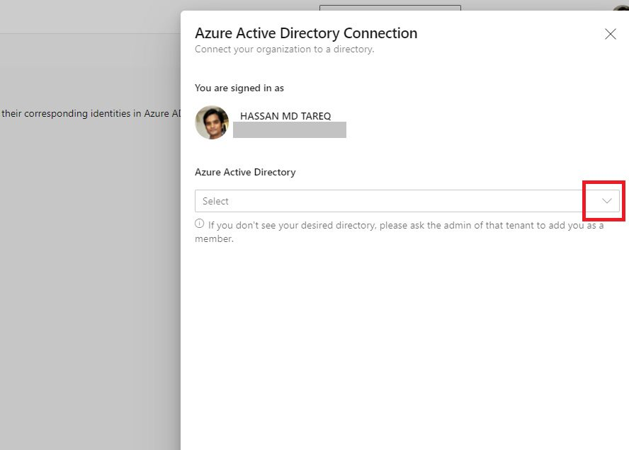 Connecting Azure AD Step 3