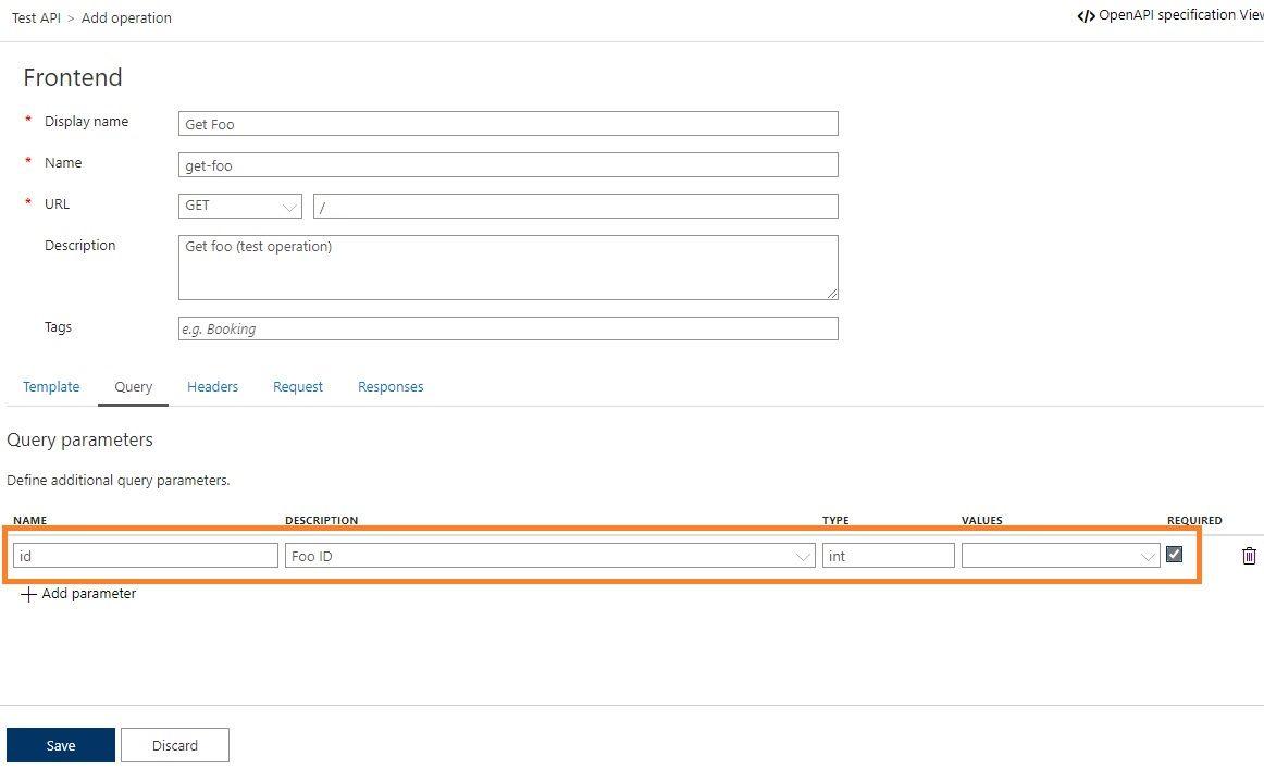 Add operation to APIM API in Azure portal Step 4