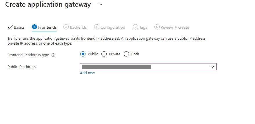 Create An Application Gateway In Azure Portal Step 2