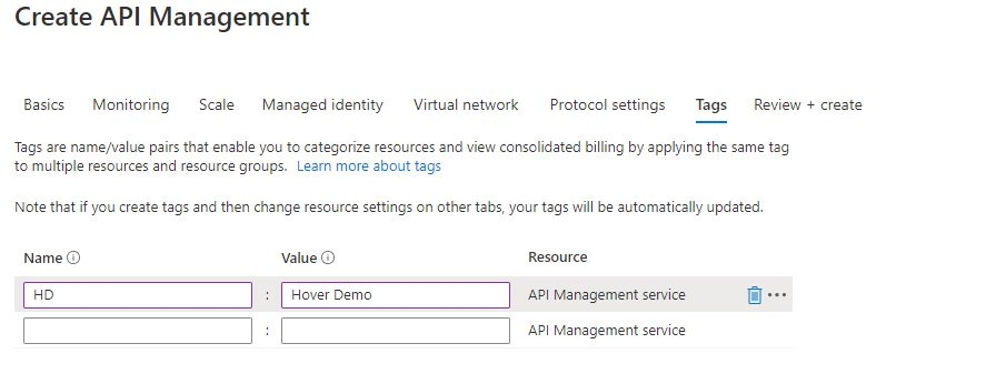 Creating API management instance Step 5