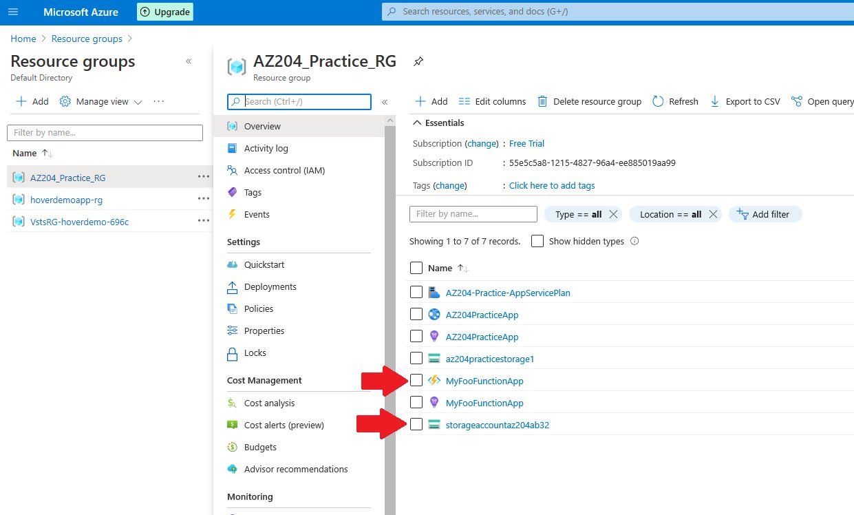 Azure Function app - publish to Azure cloud and test Step 4