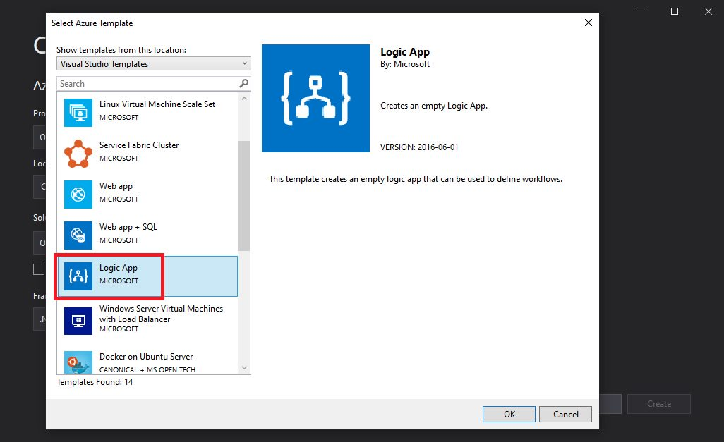 Creating Azure Logic App project in Visual Studio Step 3