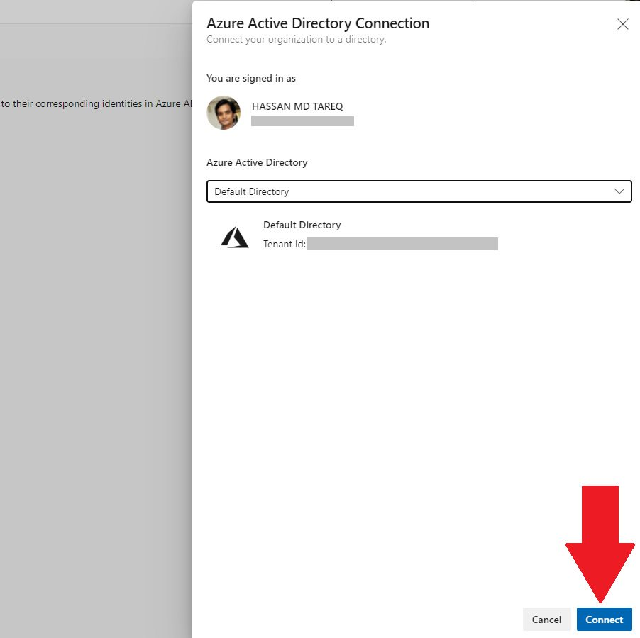 Connecting Azure AD Step 4