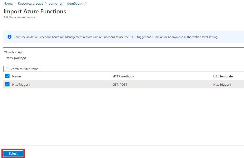 Adding Function API Step 5