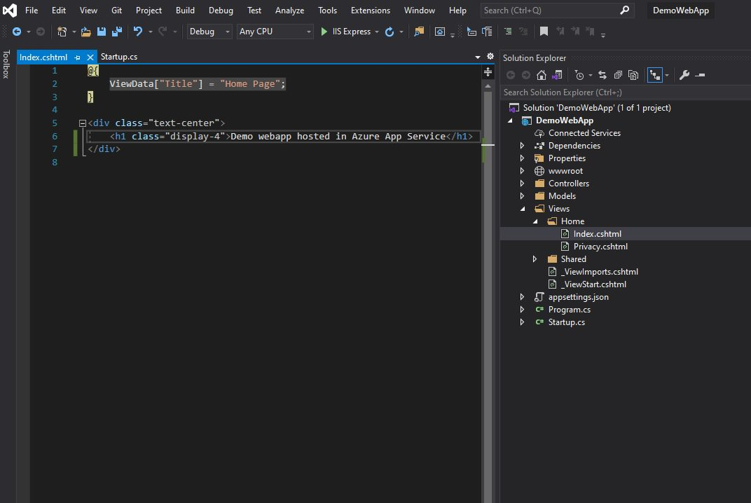 Creating Web App project in Visual studio Step 4