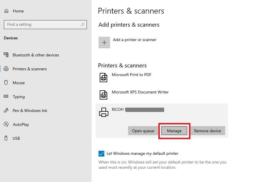 Adding Printer to Azure VM by IP Address Step 1