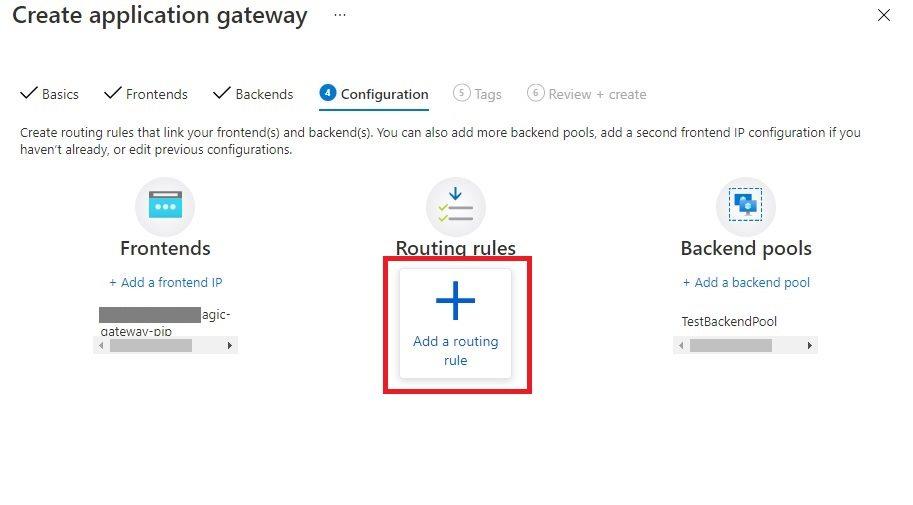 Create An Application Gateway In Azure Portal Step 5