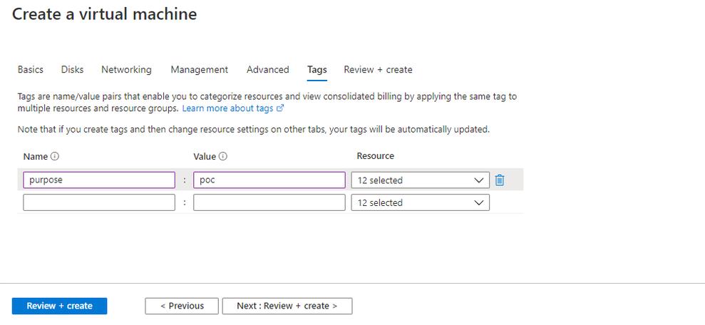 Creating Azure AD joined Virtual Machine - Windows Server 2019 as Compute VM Step 7