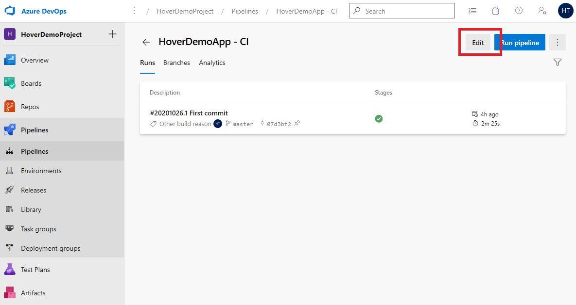 Azure DevOps Starter - Exploring CI pipeline Step 4
