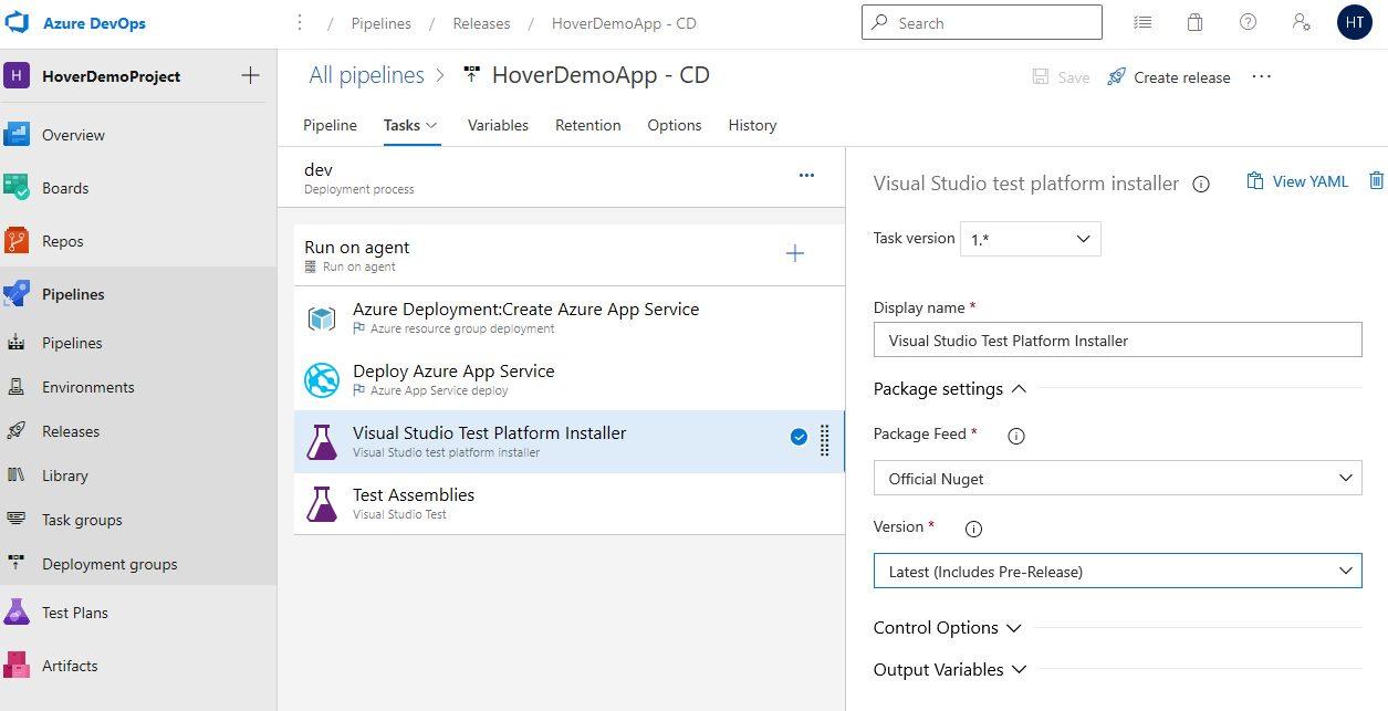 Azure DevOps Starter - Exploring CD pipeline Step 16