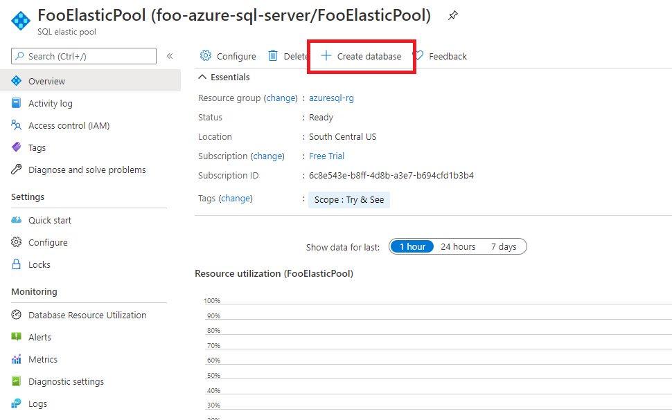 Azure SQL - Adding Database to Elastic Pool Step 2