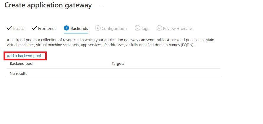 Create An Application Gateway In Azure Portal Step 3