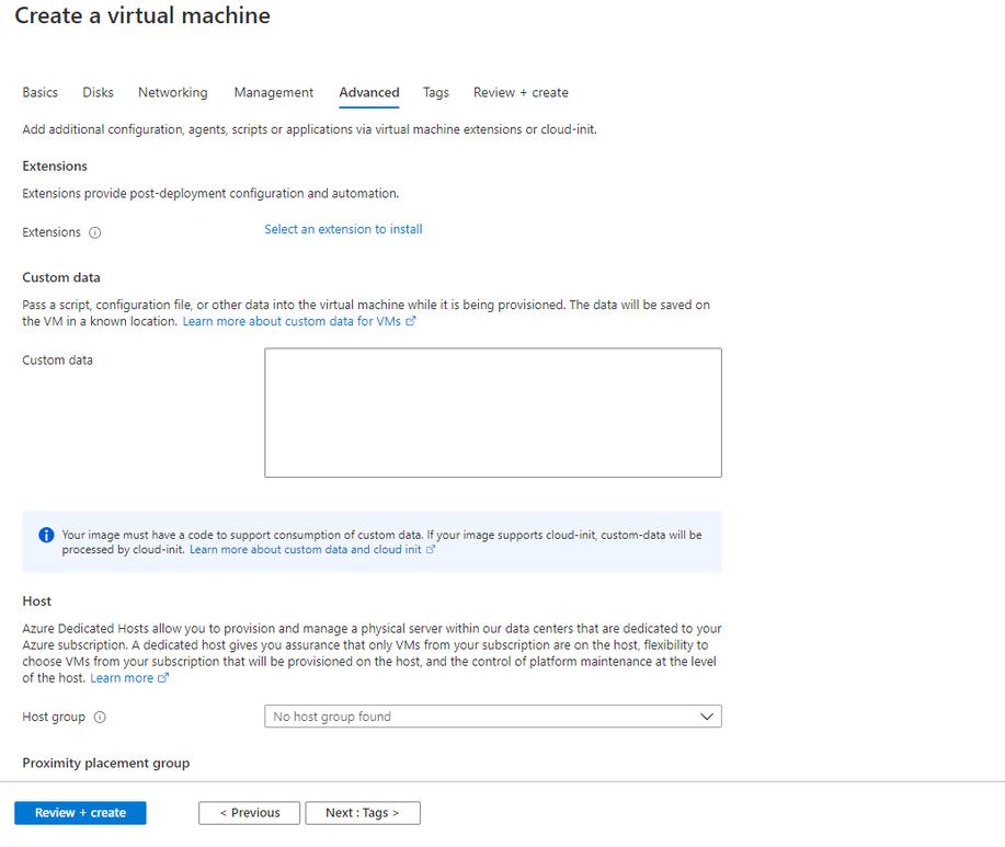 Creating Azure AD joined Virtual Machine - Windows Server 2019 as Compute VM Step 6