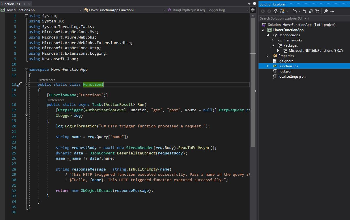 Creating Azure Function project in Visual Studio Step 6