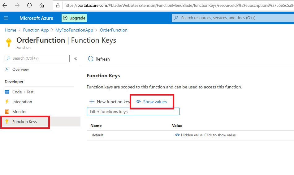 Azure Function app - publish to Azure cloud and test Step 15