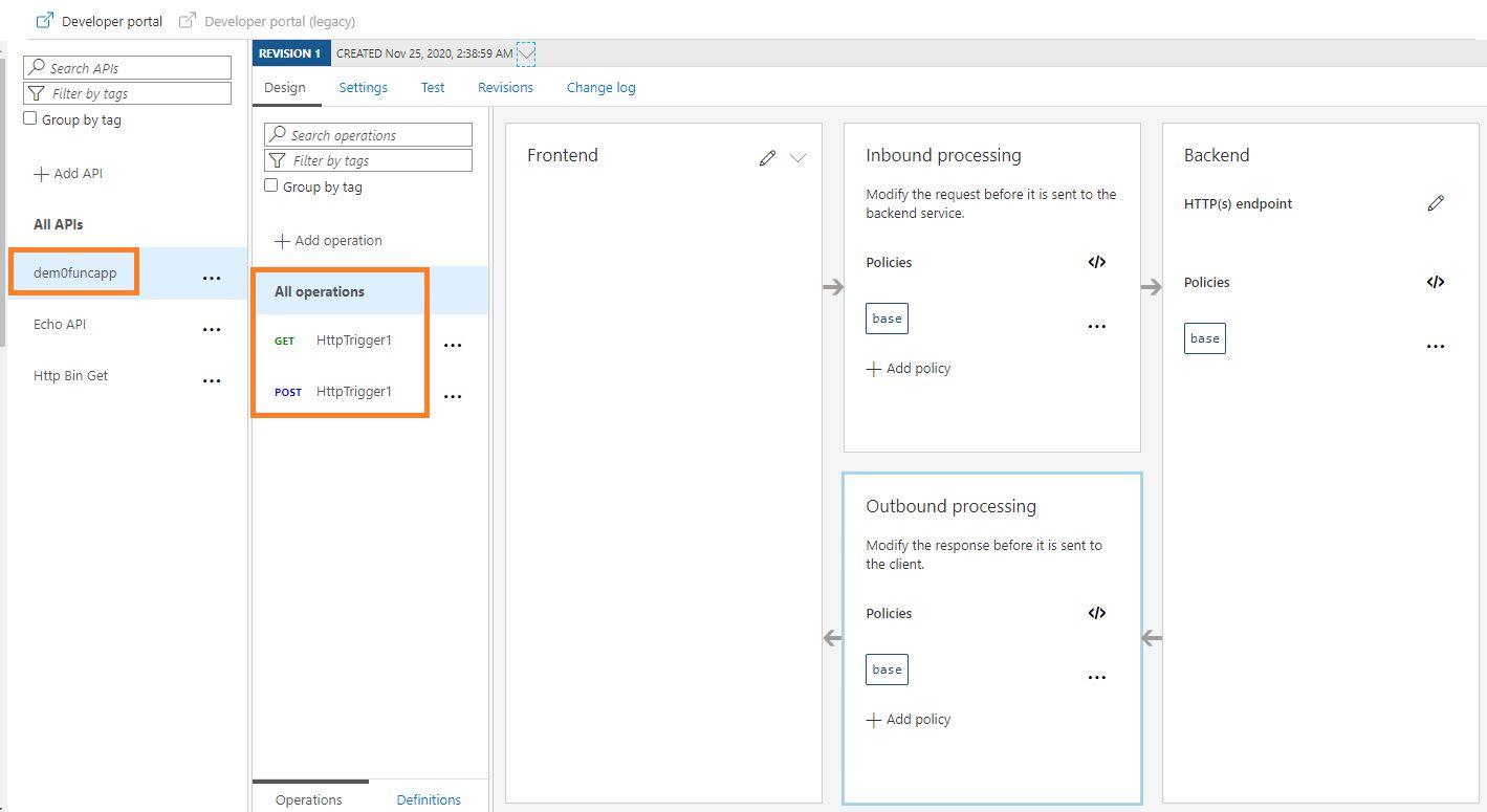 Adding Function API Step 7
