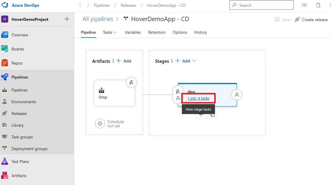 Azure DevOps Starter - Exploring CD pipeline Step 7
