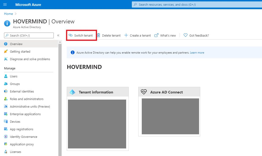 Azure Active Directory - Switch Tenant Step 1