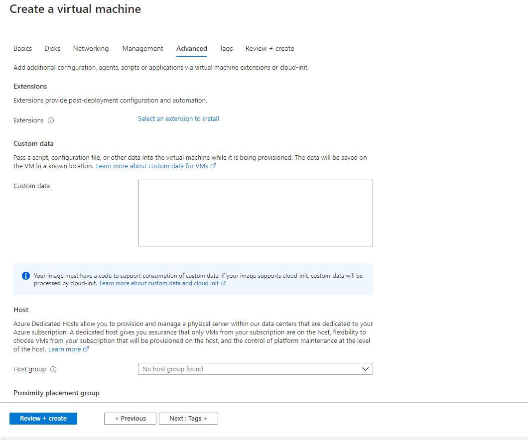 Creating Azure AD joined Virtual Machine - Windows 10 Pro as Jumpbox VM Step 6