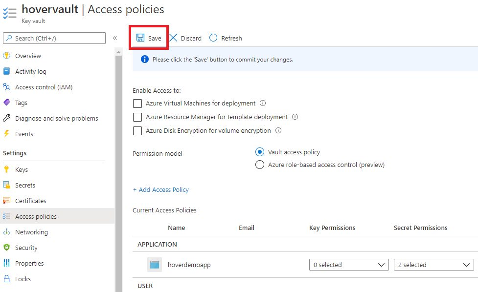 Azure App Service - Using managed identity to access KeyVault secret Step 8