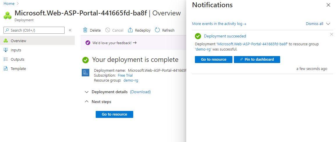 Create App Service Plan using Azure portal Step 4