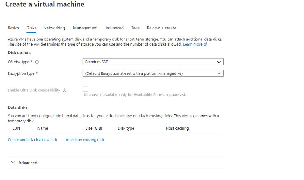 Creating Azure AD joined Virtual Machine - Windows Server 2019 as Compute VM Step 3