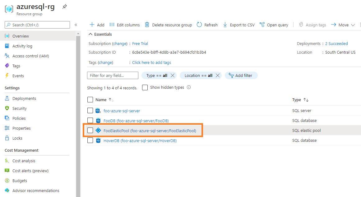 Azure SQL - Adding Database to Elastic Pool Step 1