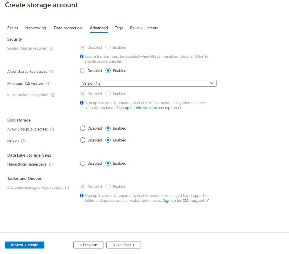 Azure Virtual Machine - Mounting blob storage Step 4