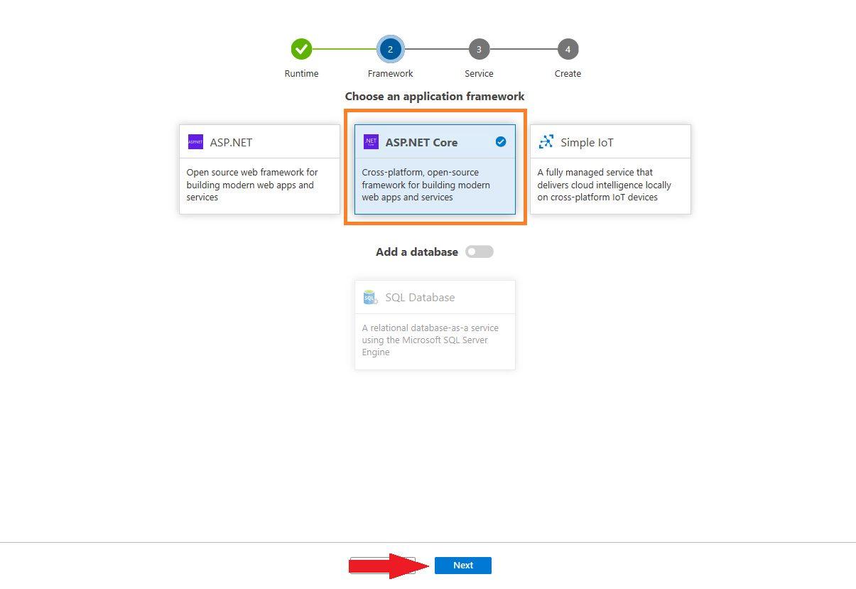 Azure DevOps Starter - create new application Step 4