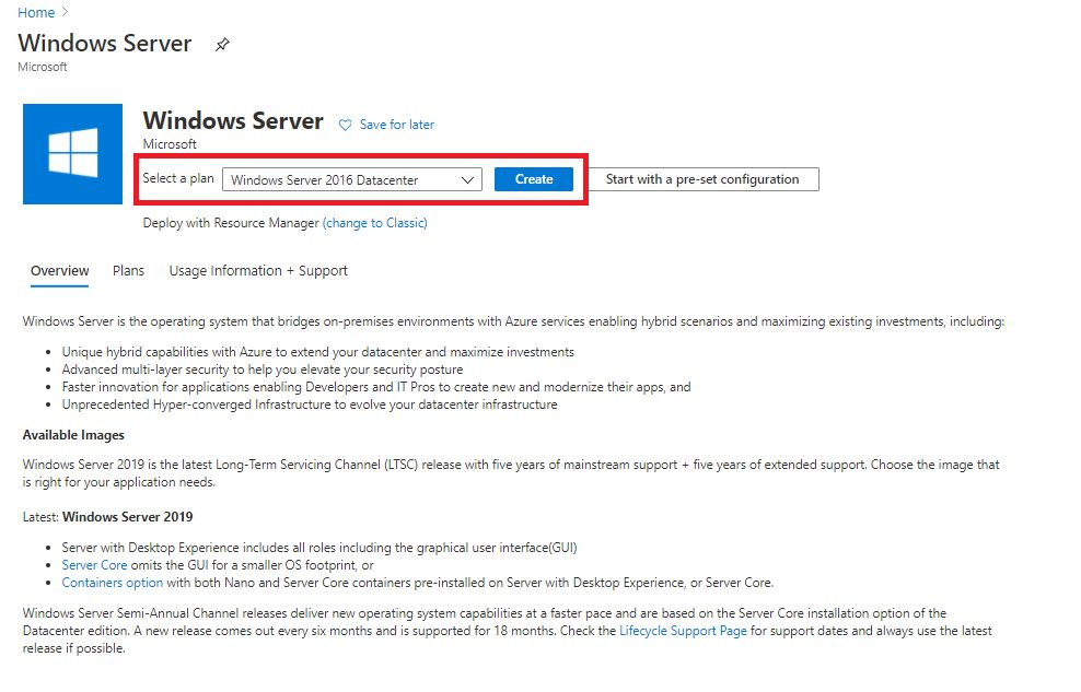 Creating Virtual Machine using Azure portal Step 1
