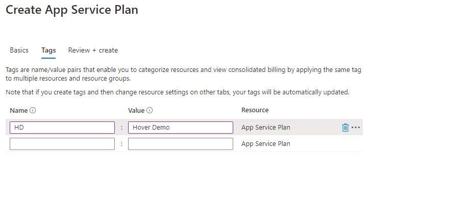 Create App Service Plan using Azure portal Step 2