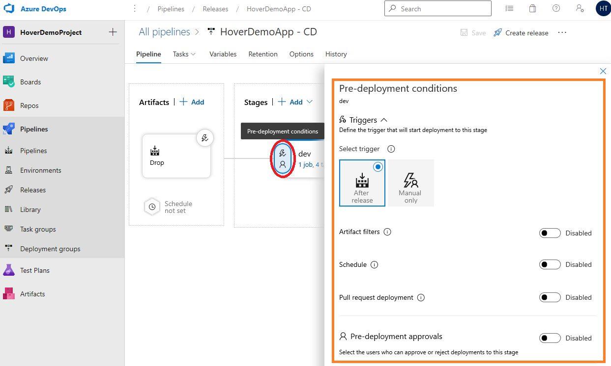 Azure DevOps Starter - Exploring CD pipeline Step 5