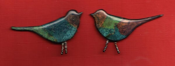 two new bird pins