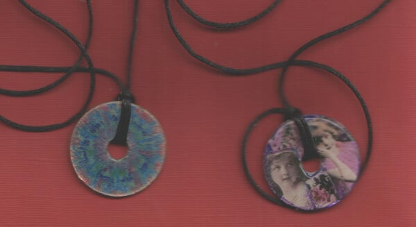 collage and sun burst necklaces
