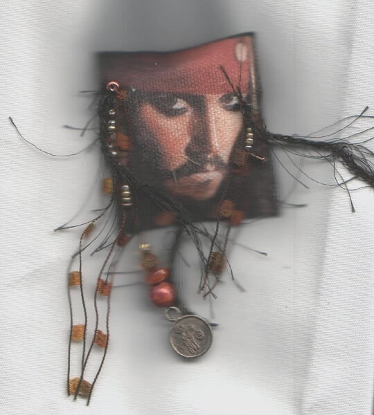 captain jack fabric trading pin by rosebudinnh