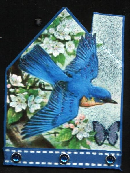 blue bird in the house ATC