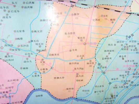 河北河间行别营的地图