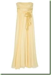bcbg silk chiffon yellow gown 061408
