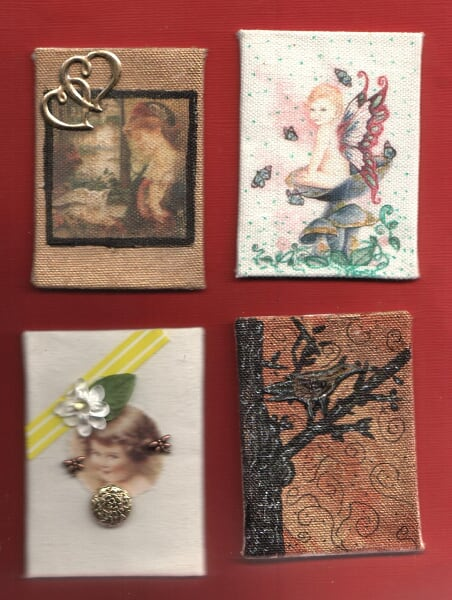 canvas atcs draw on them ,paint , ink , stamp . have fun with them.